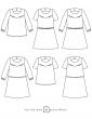 patron de couture Dessins techniques Artesane, 6 variations possibles