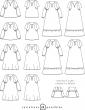 patron de couture Dessins techniques blouse Petites Choses, 24 variations possibles