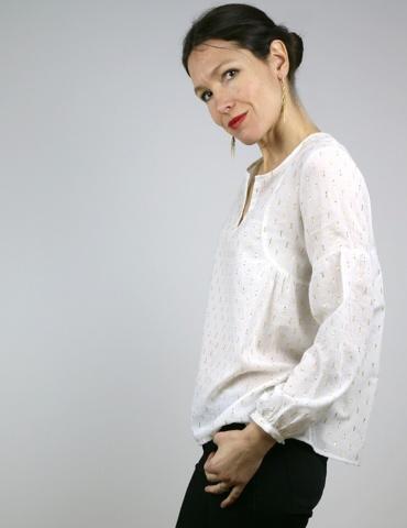 Dessins techniques blouse Petites Choses, vue de face et de dos