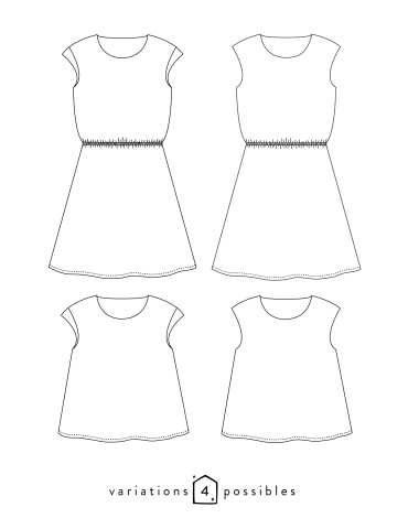 patron de couture Dessins techniques Tokyo toutes variations possibles