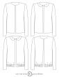 patron de couture Dessin technique de la veste Claudie toutes variations possibles