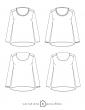 patron de couture Dessins technique blouse Bohème, toutes variations possibles