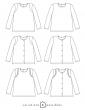 patron de couture Dessins techniques sweat Scammit, toutes variations possibles