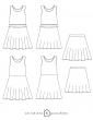 patron de couture Dessins techniques robe Petite Lune, toutes variations possibles