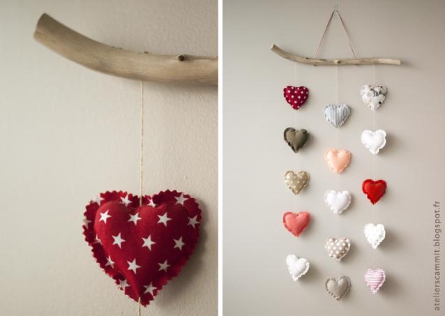 Coeur joli atelier scammit for Decoration murale tissu