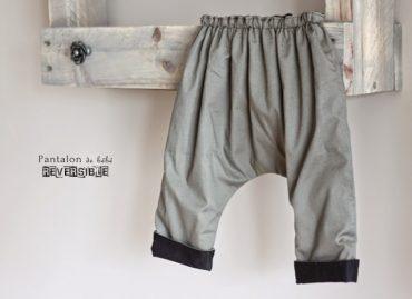 Pantalon de bébé réversible